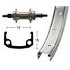 Bike-Parts Hinterrad 26x1 3/8 Schraubkranz 7-fach 36L silber